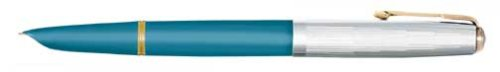 Parker 51 Blue Sterling Silver Medium Point Fountain Pen - 78006