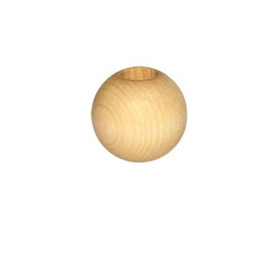 Bulk Buy:Pepperell Round Wood Macrame Craft Beads, 25mm, 1-inch Natural 6-Pack