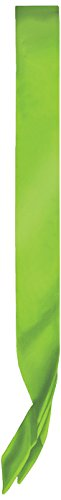 Beistle 60199-LG Satin Sash, 33 by 4-Inch, Lime Green