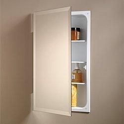 Jensen 823P24WH Specialty Perfect Square Single-Door Recessed Medicine Cabinet