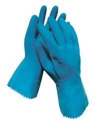 Radnor Small Blue 18 mil Latex Chemical Resistant Gloves - 12 Pairs/Dozen (5 Dozen)