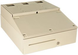 APG INT320-BL2021-C-S1 Cash Drawer Caddy System with Coin Roll Storage Till, MultiPRO 24V Interface, Base and Step Cap, 20