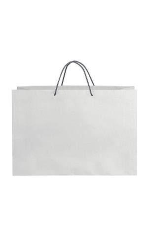 Amazon.com: GHP - 100 bolsas de la compra de papel con asa ...