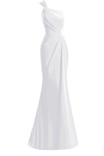 Mother Women's Of Dora Bridal Formal Dresses White The Mermaid One Shoulder Bride RpfnSnwZq