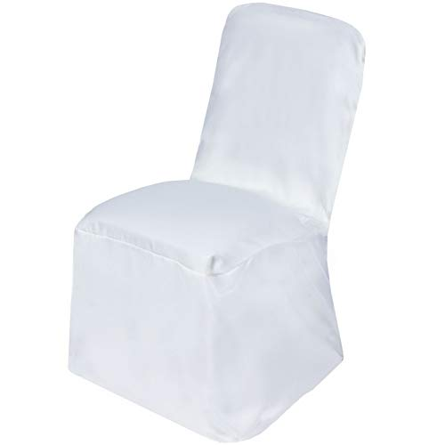(Mikash 12 pcs Polyester Square Banquet Chair Covers Slipcovers Wedding Decorations | Model WDDNGDCRTN - 11378 |)
