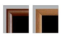 48'' x 24'' Framed Magnetic Black Chalk Board (medium brown frame)