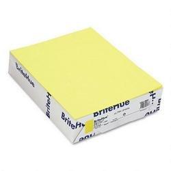 Mohawk 10459-6 Brite-Hue Text Paper, Ultra Lemon, 8-1/2 x 11, 24-lb, 500/ream