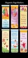 Beautiful Magnetic Bookmarks with Scripture and Words of Inspiration – Set of 6 (Friendship)