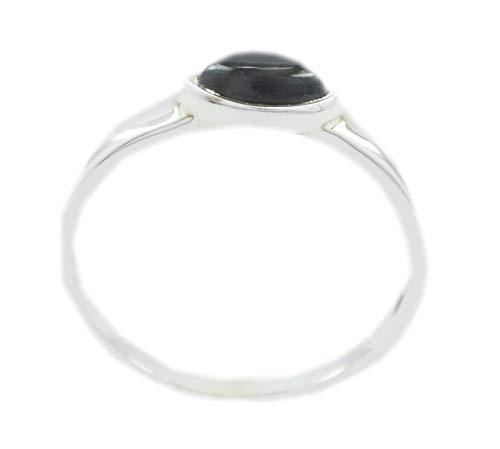 Black Onyx Black Gemstone Silver Ring Jewelry 925 Sterling Silver fine-Looking Genuine Black Ring