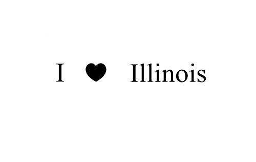 I LOVE Illinois Rubber Stamps custom stamps rubber