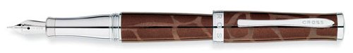 Brown Fine Point Fountain - Cross Sauvage Brown Tourmaline/Giraffe Fine Point Fountain Pen - AT0316-4FD