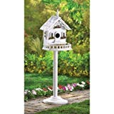 Wooden White Birdhouse Thatch Roof Hummingbird Birdhouse Chickadee Outside Ornaments Patterns For Kids Decorative Plans - Painted Gourd Bird House
