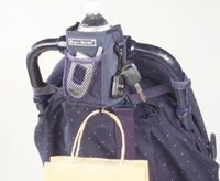 Sip N Stroll - Stroller Cup Holder - Cell phone holder - Navy Color by Juvenile Solution