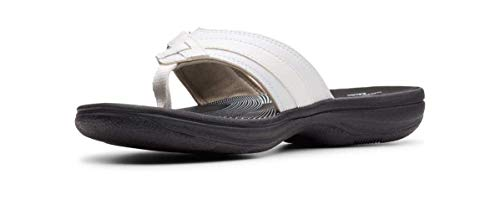 Clarks Women's Breeze Sea Flip-Flop White Limited Edition Black, 7 M US