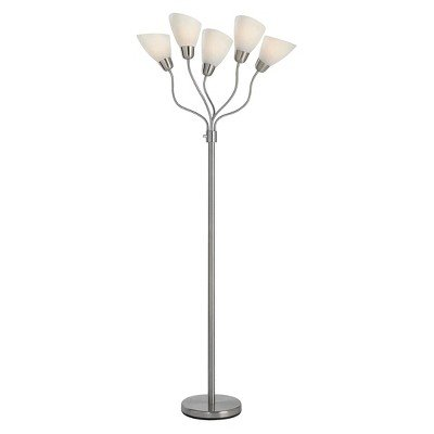 Room Essentials 5-head Floor Lamp with Multiple Heads and Ad