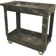 Rubbermaid RCP 9T66 BLA Service-Utility Cart- 16 x 34 by Rubbermaid