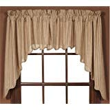 - VHC Cheston Set of Two Lined Swag Scalloped Valances 36