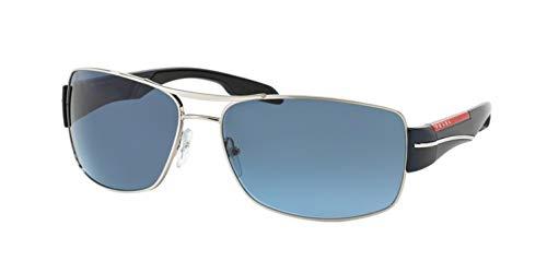 Prada Sport Model - Prada Sport Sunglasses - PS53NS / Frame: Silver Blue Lens: Gray Gradient