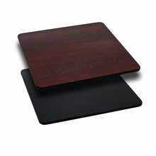 "30"" Square Table Top with Black or Mahogany Reversible Laminate Top [XU-MBT-3030-GG]"