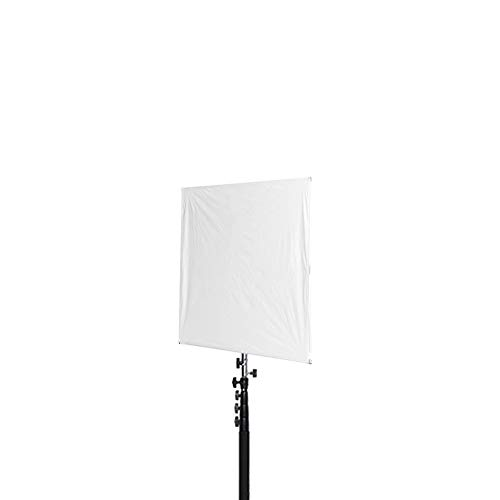 Fovitec - 1x 24 inch Photography Collapsible Sun Scrim Diffuser - [EZ Set-up][Durable Nylon][Lightweight][White/Silver Fabric]