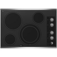 Whirlpool 30 Stainless 5 Burner Electric Cooktop Black