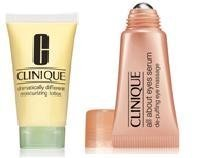 Clinique Set Dramatically Different Moisturizing Lotion 30ml All About Eyes Serum 5ml Beauty
