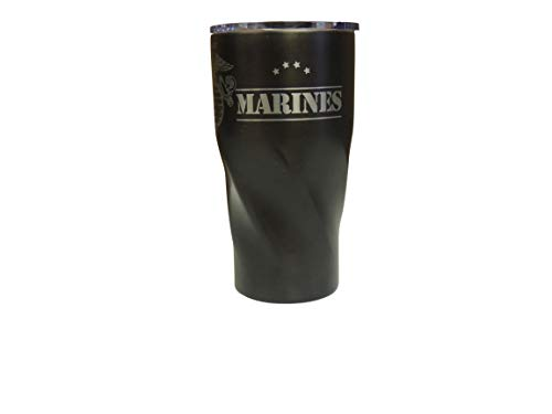 Marine Corp Vacuum Insulated Tumbler 20 Oz - BPA Free Stainless-Steel Vacuum Mug Dishwasher Proof - For Travelling Sports Outdoor & Gym (Black)
