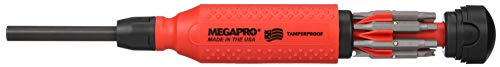 (Megapro 151TP 15-In-1 Tamperproof Driver, Red/Black)