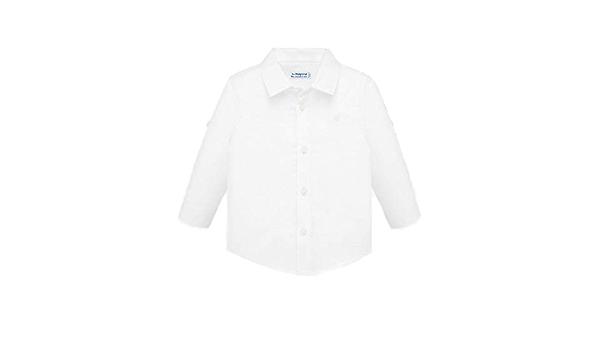 Mayoral Camisa de lino M/L para niño blanco 3 años: Amazon.es ...