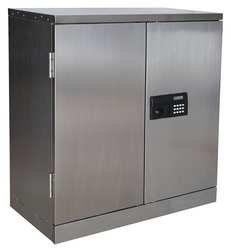 STORE LOGIC 6MNU3 Wall Cabinet, 30x30x12, SS, Electronic Lock