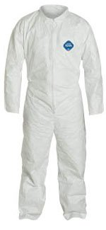 Tyvek Coveralls Standard Suit with Zipper Front (25 per case) Large