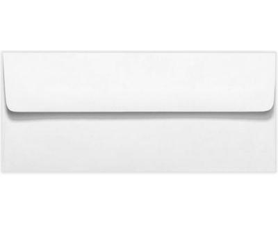 #10 Square Flap Envelopes w/Peel & Press (4 1/8 x 9 1/2) - 70lb. Bright White (50 Qty.) | Business | For Checks, Invoices, Letters & Mailings | Printable | 70lb Text Paper | 4860-70W-50 (Bright 70 Lb White Text)