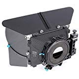 Fotga DSLR Swing-Away Matte Box Mattebox with 15mm Rod for Rail Rod Baseplate Rig Nikon D850 D750 Sony A9 A7III A7RIII A7SII A6000 A6300 A6500 Panasonic GH4 GH5 GH5s Canon EOS 5D 6D 7D Mark II III IV