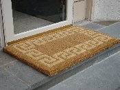 - Traditional Coir Doormat, Greek Key, 18-Inch by 30-Inch