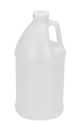 Vestil JUG-64 High Density Polyethylene (HDPE) Round Jug with Natural Cap, 4-5/8