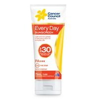 Cancer Council Australia Everyday Sunscreen Moisturizing Lotion SPF 30 PA+++ High UVA + UVB Protection, - Stores Council Cancer
