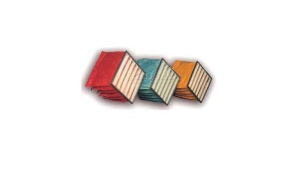 6 Pockets Lot of 4 Filtration Manufacturing 0701-66242412 Bag Filter 24 W x 24 H x 12 D Merv 12