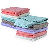 Kyapoo Baby Washcloths 10 Pack 12x12 Inches Microfiber Coral Fleece Extra Absorbent and Soft for Newborns, Infants and - Cloth Burp Toddler Newborn