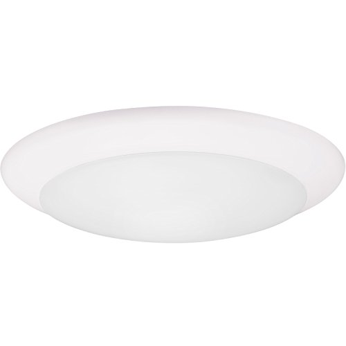 (GetInLight 9 Inch LED Disk Light, Dimmable, Recessed or Surface Mount, Bright White 4000K, Matte White Finish, ETL Listed, Wet Location Rated, IN-0301-5-WH-40)