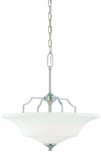 Thomas Lighting SL892578 Chiave Collection 2 Light Pendant, Brushed Nickel
