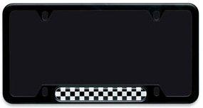 (MINI Cooper Black Checkerboard License Plate Frame)