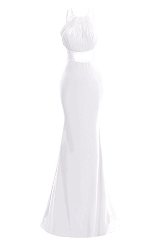 Dresses Backless s Beaded Bridal Prom Bess Evening White Mermaid Women Gowns XzBqE1H
