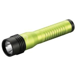 Strion Rechargeable Flashlight - Streamlight Strion LED HL Rechargeable Flashlight with 120V AC/12V DC PiggyBack Charger, Lime Green (STL-74784)