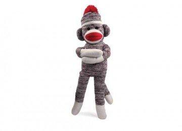 Original Sock Monkey Knitted Puppet Present Stuffed Animal Plush Baby Doll 20 inch