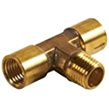 Hitachi 115179 Brass Two Way Tee Splitter with 1/4 NPT Female Thread