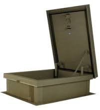 Lane-Aire 36 x 36 Roof Hatch - Lane-Aire Galvanized Steel by Lane-Aire