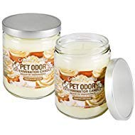 Specialty Pet Products Odor Exterminator Candle, Creamy Vanilla, 13 Ounce Jar (Pack of 2) ()