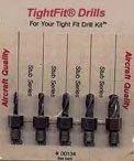 Drill Bits Short Length Threaded Shank, Stub Series Drill Bit Set 4 Tight Fit Tools 00134 ()