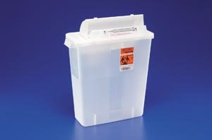 Sharpstar Lid - COVIDIEN/MEDICAL SUPPLIES SHARPSTAR IN-ROOM SYSTEM WITH SHARPSTAR LIDS IN-ROOM Sharps Container, 12 Qt, Clear, SHARPSTAR Lid & Counter-Balanced Door, 16