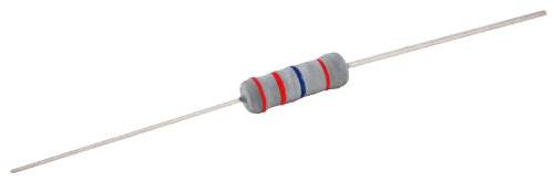 NTE Electronics 2W2D0 Resistor, Metal Oxide Film, Flameproof, Axial Leaded, 5% Tolerance, 2 Ohm Resistance, 2W, 500V (Pack of 2)